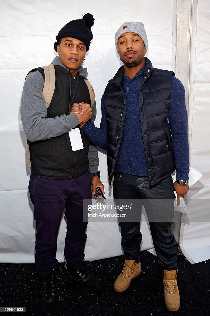 Actors Cory Hardrict and Michael B. Jordan attend Day 4 of Village At The Lift 2013 on January 21, 2013 in Park City, Utah.