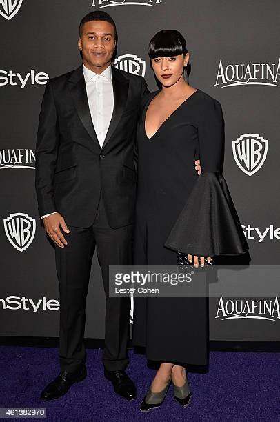 Actors Cory Hardrict and Tia Mowry attend the 16th Annual Warner Bros and InStyle PostGolden Globe Party at The Beverly Hilton Hotel on January 11...