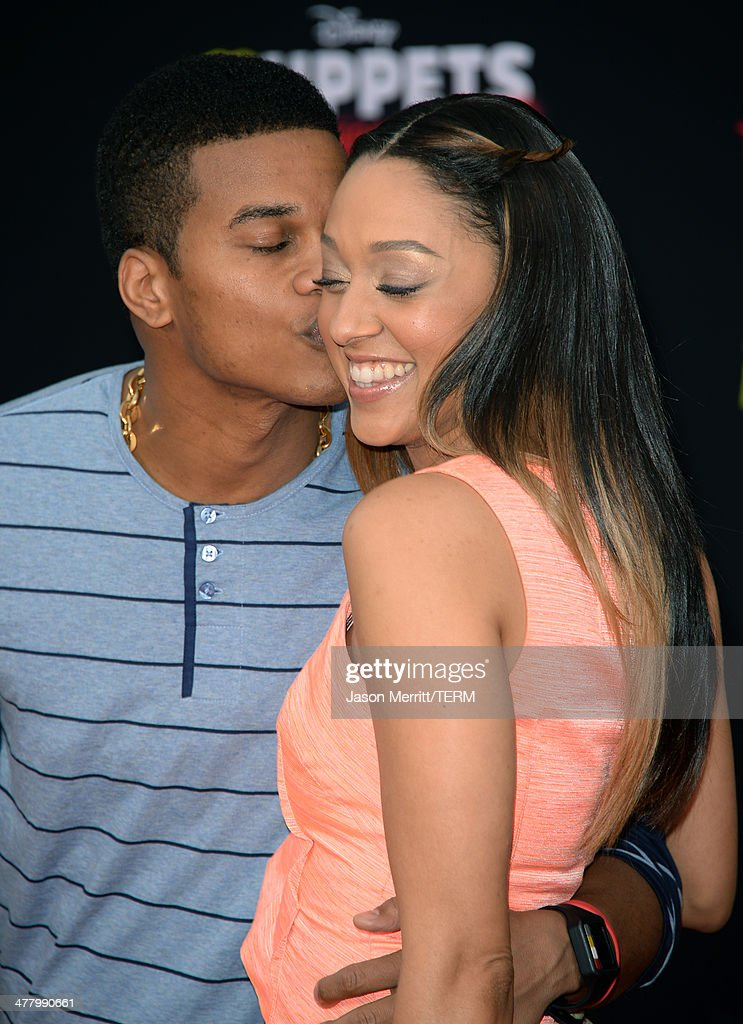 Actors Cory Hardrict and Tia Mowry attend the premiere of Disney's 'Muppets Most Wanted' at the El Capitan Theatre on March 11, 2014 in Hollywood, California.