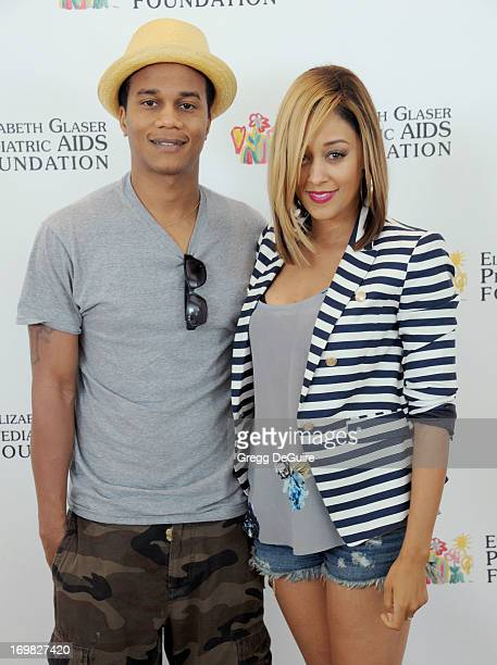 Actors Cory Hardrict and Tia MowryHardrict arrive at the Elizabeth Glaser Pediatric AIDS Foundation's 24th Annual 'A Time For Heroes' at Century Park...
