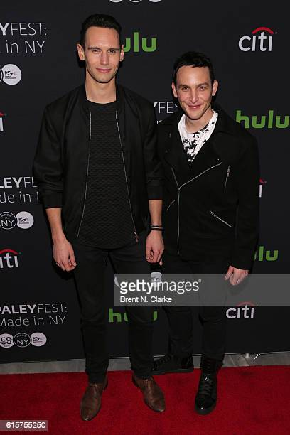 Actors Cory Michael Smith and Robin Lord Taylor attend the 'Gotham' panel discussion and screening during PaleyFest New York 2016 held at The Paley...