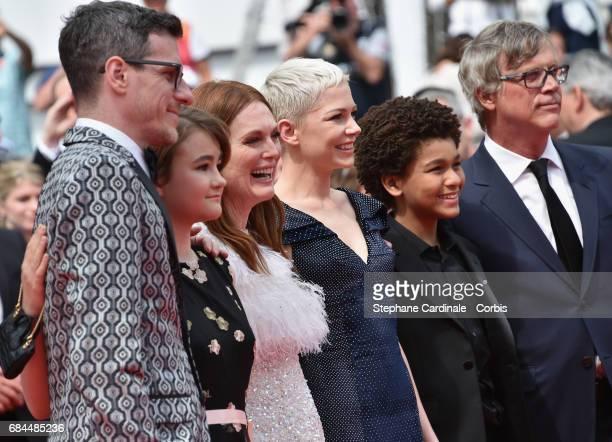 Actors Cory Michael Smith Millicent Simmonds Julianne Moore Michelle Williams Jaden Michael and director Todd Haynes attend the 'Wonderstruck'...