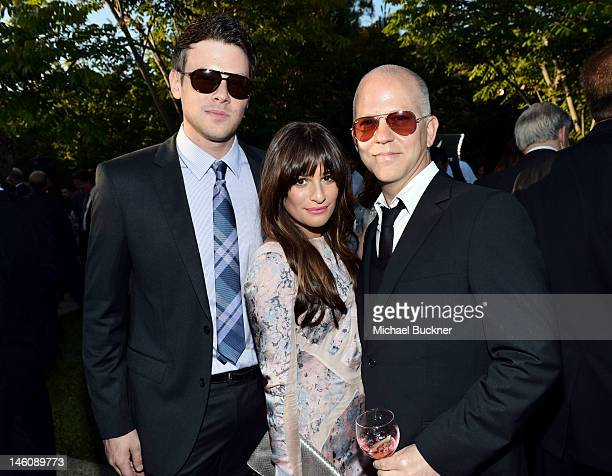 Actors Cory Monteith and Lea Michele and writer/director/producer Ryan Murphy inside the 11th Annual Chrysalis Butterfly Ball sponsored by Audi Grey...