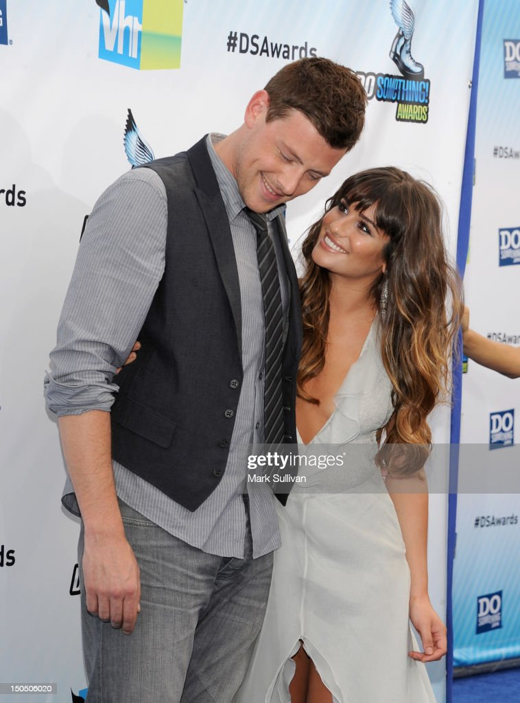 Actors <a gi-track='captionPersonalityLinkClicked' href=/galleries/search?phrase=Cory+Monteith&family=editorial&specificpeople=4491048 ng-click='$event.stopPropagation()'>Cory Monteith</a> and <a gi-track='captionPersonalityLinkClicked' href=/galleries/search?phrase=Lea+Michele&family=editorial&specificpeople=566514 ng-click='$event.stopPropagation()'>Lea Michele</a> arrive for the 2012 Do Something Awards on August 19, 2012 in Santa Monica, California.