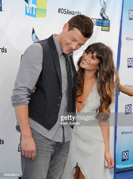 Actors Cory Monteith and Lea Michele arrive for the 2012 Do Something Awards on August 19 2012 in Santa Monica California