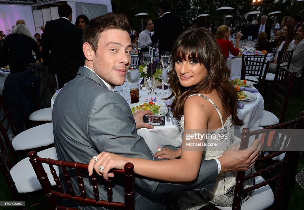 Actors Cory Monteith and Lea Michele attend the 12th Annual Chrysalis Butterfly Ball on June 8 2013 in Los Angeles California
