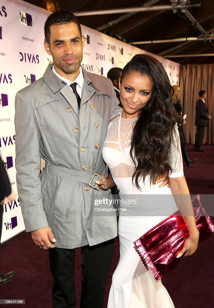 Actors Cottrell Guidry and Kat Graham attend 'VH1 Divas' 2012 at The Shrine Auditorium on December 16, 2012 in Los Angeles, California.