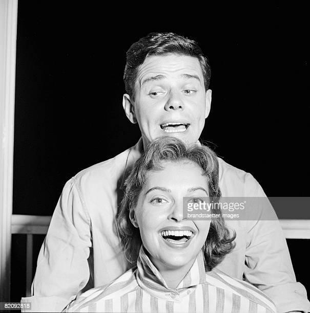 Actors couple Nadja Tiller and Walter Giller Photography 1956 [SchauspielerEhepaar Nadja Tiller und Walter Giller Photographie 1956]