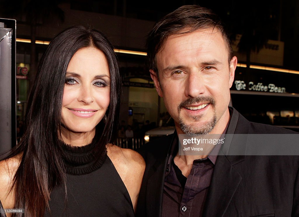 Actors Courteney Cox and David Arquette arrive at the 'Scream 4' World Premiere at Grauman's Chinese Theatre on April 11 2011 in Hollywood California