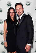 Actors Courteney Cox and David Arquette arrives at the St Joseph Center's 25th Annual Dinner Dance And Auctions Gala at Skirball Cultural Center on...