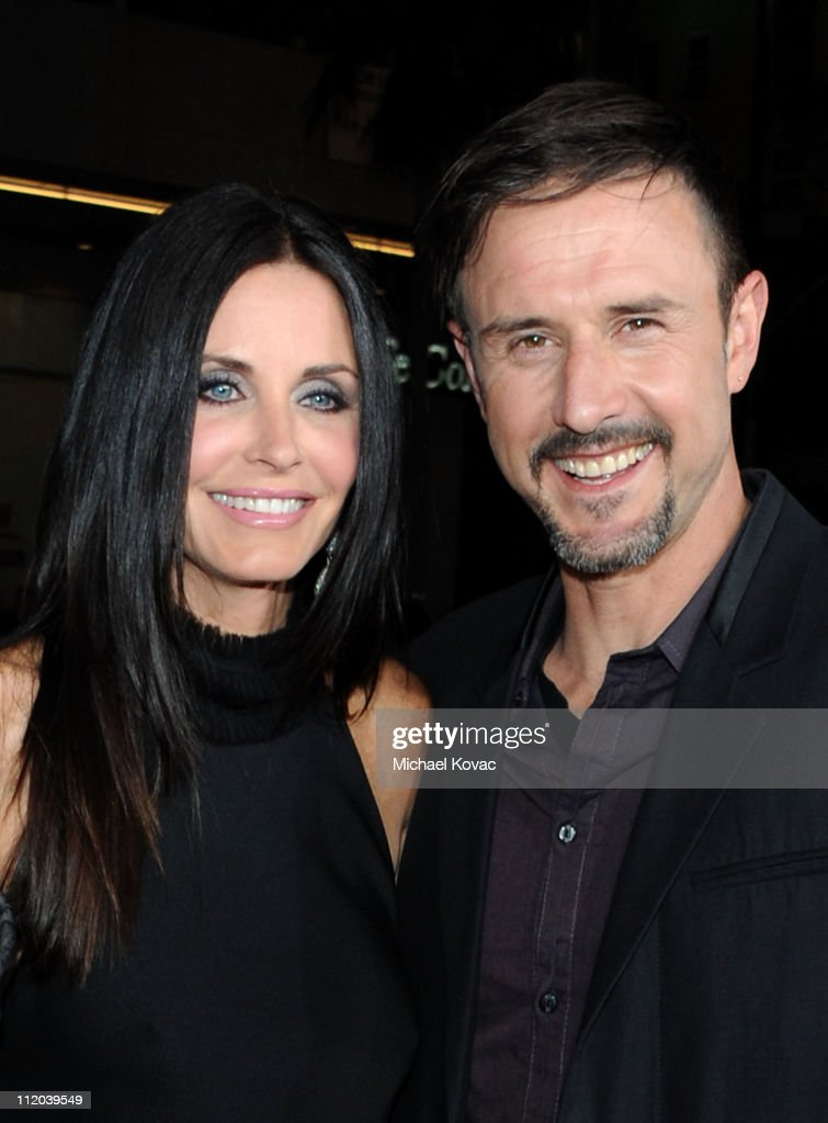 Actors Courteney Cox and David Arquette attend the World Premiere of The Weinstein Company's 'Scream 4' presented by AXE Shower held at the Grauman's...
