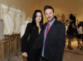 Actors Courteney Cox Arquette and David Arquette attend Greg Lauren Presents Alteration Art on April 28 2010 in Los Angeles California