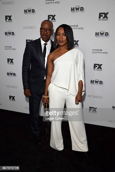 Actors Courtney B Vance and Angela Bassett at Vanity Fair And FX's Annual Primetime Emmy Nominations Party on September 17 2016 in Beverly Hills...