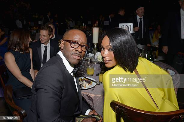 Actors Courtney B Vance and Angela Bassett attend the 68th Annual Primetime Emmy Awards Governors Ball at Microsoft Theater on September 18 2016 in...