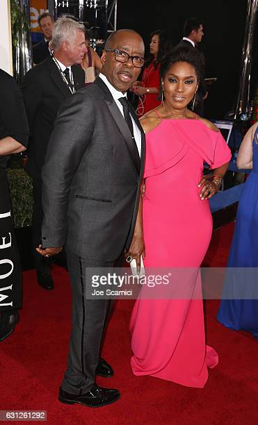 Actors Courtney B Vance and Angela Bassett attend the 74th Annual Golden Globe Awards at The Beverly Hilton Hotel on January 8 2017 in Beverly Hills...