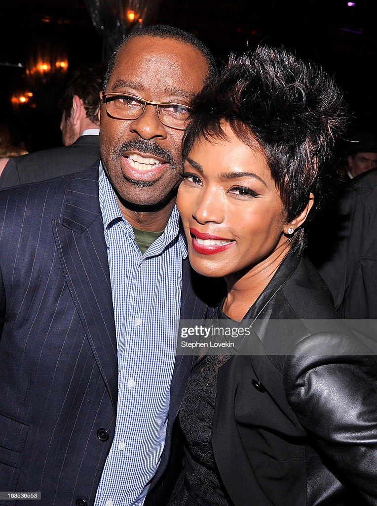 Actors <a gi-track='captionPersonalityLinkClicked' href=/galleries/search?phrase=Courtney+B.+Vance&family=editorial&specificpeople=224059 ng-click='$event.stopPropagation()'>Courtney B. Vance</a> and <a gi-track='captionPersonalityLinkClicked' href=/galleries/search?phrase=Angela+Bassett&family=editorial&specificpeople=171174 ng-click='$event.stopPropagation()'>Angela Bassett</a> attend the after party for The Cinema Society with Roger Dubuis and Grey Goose screening of FilmDistrict's 'Olympus Has Fallen' at The Darby on March 11, 2013 in New York City.
