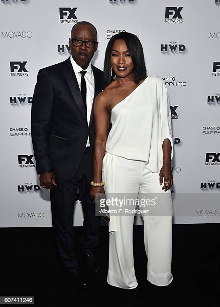 Actors Courtney B Vance and Angela Bassett attend the Vanity and FX Annual Primetime Emmy Nominations Party at Craft Restaurant on September 17 2016...