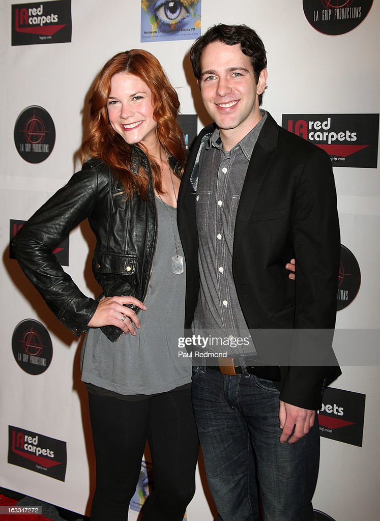 Actors <a gi-track='captionPersonalityLinkClicked' href=/galleries/search?phrase=Courtney+Hope&family=editorial&specificpeople=1780834 ng-click='$event.stopPropagation()'>Courtney Hope</a> and Damian Daly arrive at Make A Film Foundation's 'Kidz 4 Kidz' Comedy 4 A Cau$e Benefit Show at Writers Guild Theater on March 7, 2013 in Beverly Hills, California.