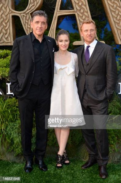 Actors Craig Ferguson Kelly Macdonald and Kevin McKidd arrive at Disney Pixar's 'Brave' World Premiere at Dolby Theatre on June 18 2012 in Hollywood...