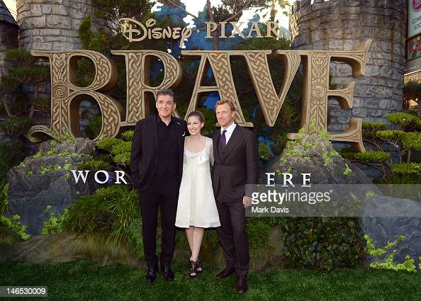 Actors Craig Ferguson Kelly Macdonald and Kevin McKidd arrive at the premiere of 'Brave' during the 2012 Los Angeles Film Festival at Dolby Theatre...