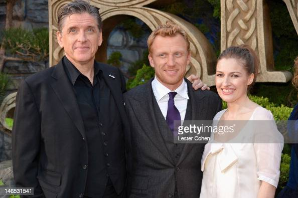 Actors Craig Ferguson Kevin McKidd and Kelly Macdonald arrive at Disney Pixar's 'Brave' World Premiere at Dolby Theatre on June 18 2012 in Hollywood...