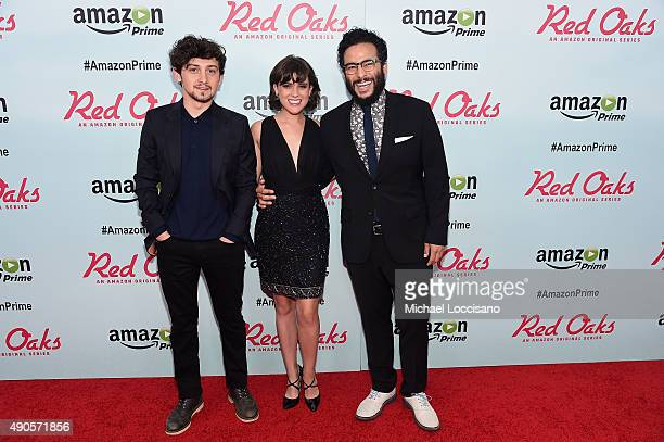Actors Craig Roberts Alexandra Socha and Ennis Esmer attend the Amazon red carpet premiere for the brand new original comedy series 'Red Oaks' on...