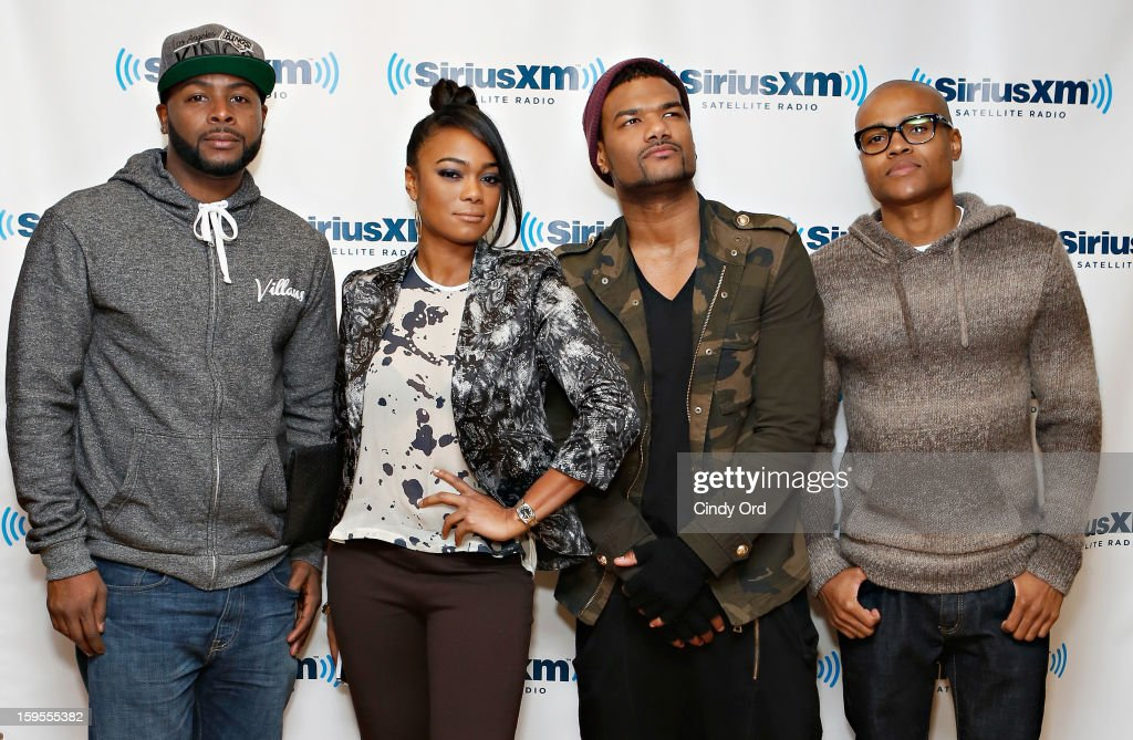 Actors <a gi-track='captionPersonalityLinkClicked' href=/galleries/search?phrase=Craig+Wayans&family=editorial&specificpeople=5843021 ng-click='$event.stopPropagation()'>Craig Wayans</a>, <a gi-track='captionPersonalityLinkClicked' href=/galleries/search?phrase=Tatyana+Ali&family=editorial&specificpeople=847071 ng-click='$event.stopPropagation()'>Tatyana Ali</a>, <a gi-track='captionPersonalityLinkClicked' href=/galleries/search?phrase=Damien+Dante+Wayans&family=editorial&specificpeople=764721 ng-click='$event.stopPropagation()'>Damien Dante Wayans</a> and George O. Gore, II visit the SiriusXM Studios on January 15, 2013 in New York City.