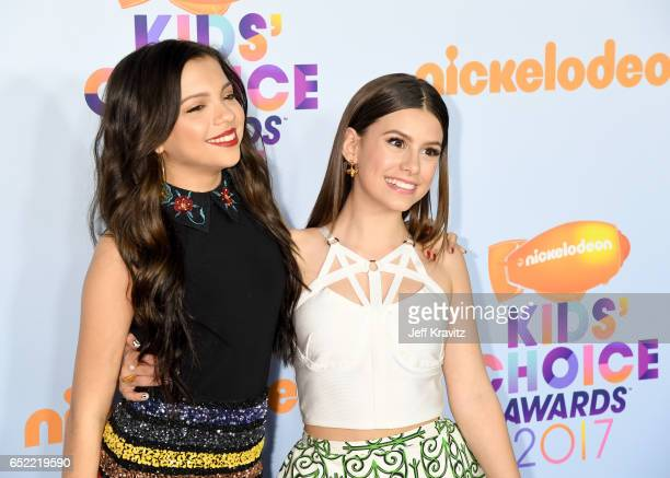 Actors Cree Cicchino and Madisyn Shipman at Nickelodeon's 2017 Kids' Choice Awards at USC Galen Center on March 11 2017 in Los Angeles California