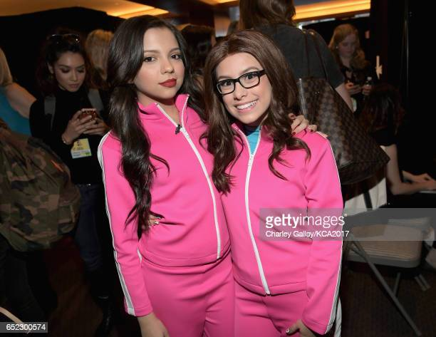 Actors Cree Cicchino and Madisyn Shipman in the green room at Nickelodeon's 2017 Kids' Choice Awards at USC Galen Center on March 11 2017 in Los...