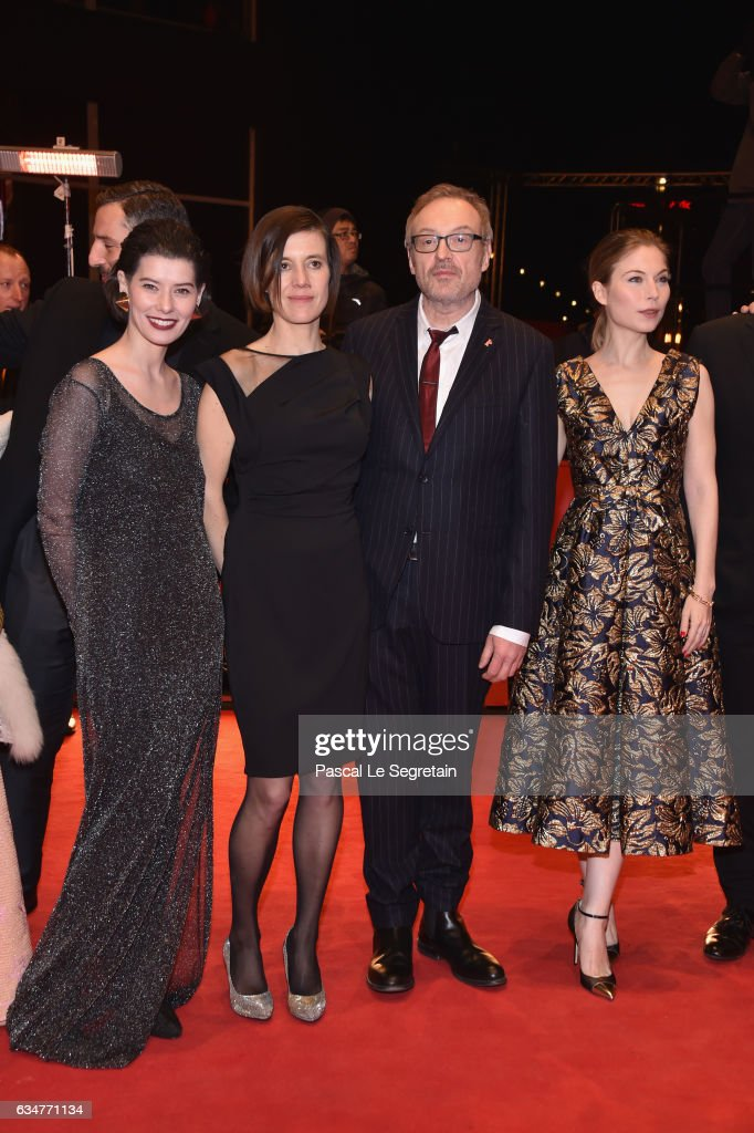 Actors Crina Semciuc, Pia Hierzegger, Film director Josef Hader and actress Nora von Waldstaetten attend the 'Wild Mouse' (Wilde Maus) premiere during the 67th Berlinale International Film Festival Berlin at Berlinale Palace on February 11, 2017 in Berlin, Germany.