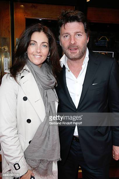 Actors Cristiana Reali and Philippe Lellouche attend the 'Mugler Follies' 100th Edition at Le Comedia in Paris on May 26 2014 in Paris France