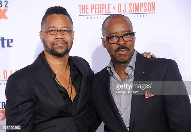 Actors Cuba Gooding Jr and Courtney B Vance arrive at the premiere of 'FX's 'American Crime Story The People V OJ Simpson' at Westwood Village...