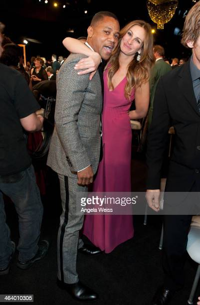 Actors Cuba Gooding Jr and Julia Roberts attend the 20th Annual Screen Actors Guild Awards at The Shrine Auditorium on January 18 2014 in Los Angeles...