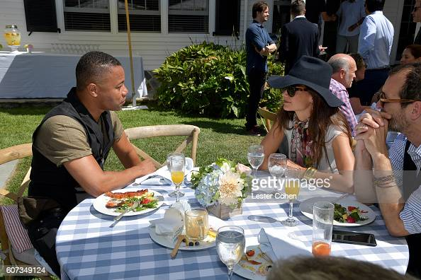 Actors Cuba Gooding Jr and Katie Holmes at the ICM Partners PreEmmy Brunch on September 17 2016 in Santa Monica California