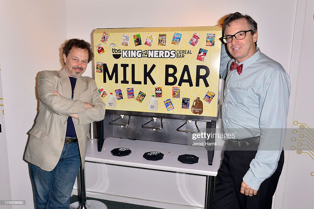 Actors <a gi-track='captionPersonalityLinkClicked' href=/galleries/search?phrase=Curtis+Armstrong&family=editorial&specificpeople=668072 ng-click='$event.stopPropagation()'>Curtis Armstrong</a> and Robert Carradine attend TBS 'King Of The Nerds' Breakfast Meet & Greet on July 19, 2013 in San Diego, California.