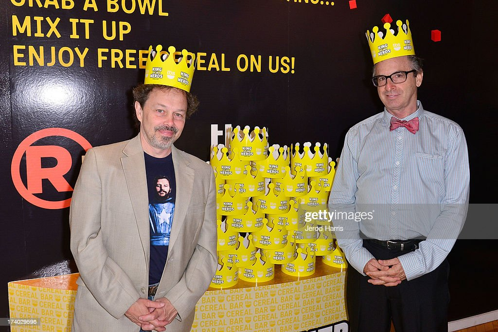 Actors Curtis Armstrong and Robert Carradine attend TBS 'King Of The Nerds' Breakfast Meet & Greet on July 19, 2013 in San Diego, California.