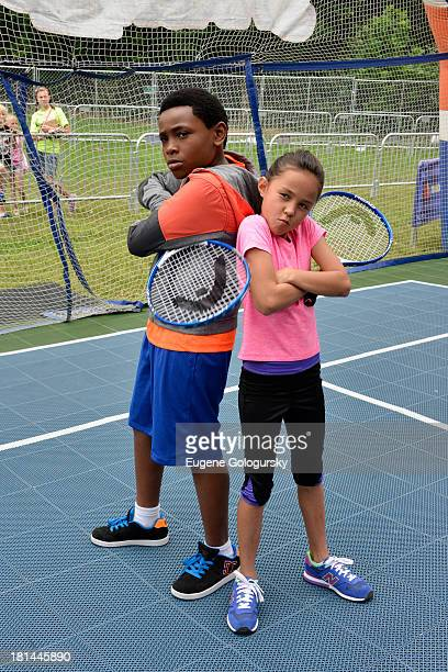 Actors Curtis Harris and Breanna Yde enjoy the activities at Nickelodeon's 10th Annual Worldwide Day of Play in Brooklyn's Prospect Park at Prospect...