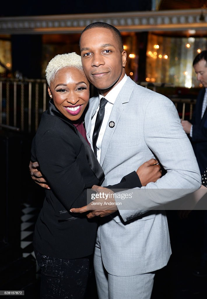 Actors <a gi-track='captionPersonalityLinkClicked' href=/galleries/search?phrase=Cynthia+Erivo&family=editorial&specificpeople=8553747 ng-click='$event.stopPropagation()'>Cynthia Erivo</a> (L) and <a gi-track='captionPersonalityLinkClicked' href=/galleries/search?phrase=Leslie+Odom&family=editorial&specificpeople=9133547 ng-click='$event.stopPropagation()'>Leslie Odom</a> Jr. attend the 2016 Tony Awards Meet The Nominees Press Reception on May 4, 2016 in New York City.
