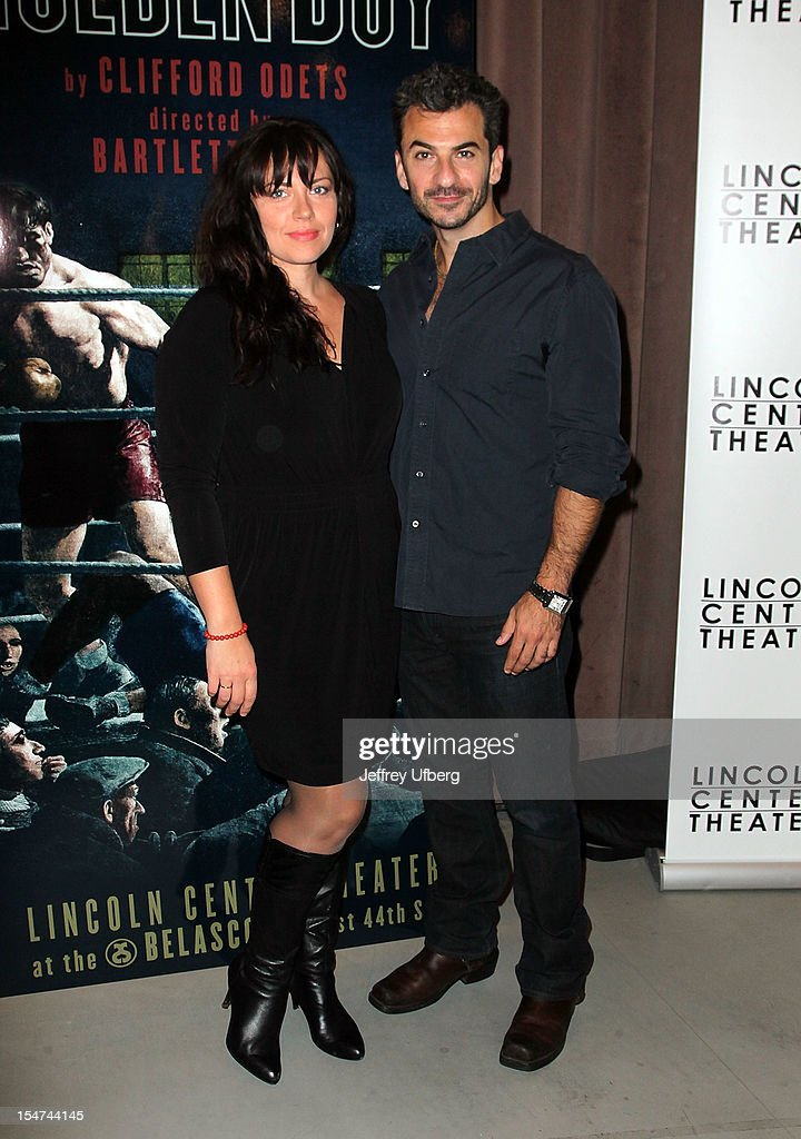 Actors <a gi-track='captionPersonalityLinkClicked' href=/galleries/search?phrase=Dagmara+Dominczyk&family=editorial&specificpeople=724654 ng-click='$event.stopPropagation()'>Dagmara Dominczyk</a> and Michael Aronov attend the 'Golden Boy' Cast Meet & Greet at the Lincoln Center Theater on October 25, 2012 in New York City.