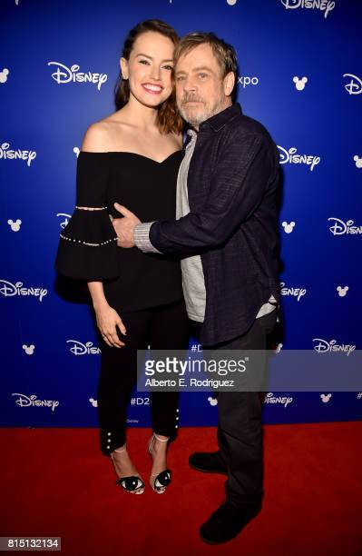 Actors Daisy Ridley and Mark Hamill of STAR WARS THE LAST JEDI took part today in the Walt Disney Studios live action presentation at Disney's D23...