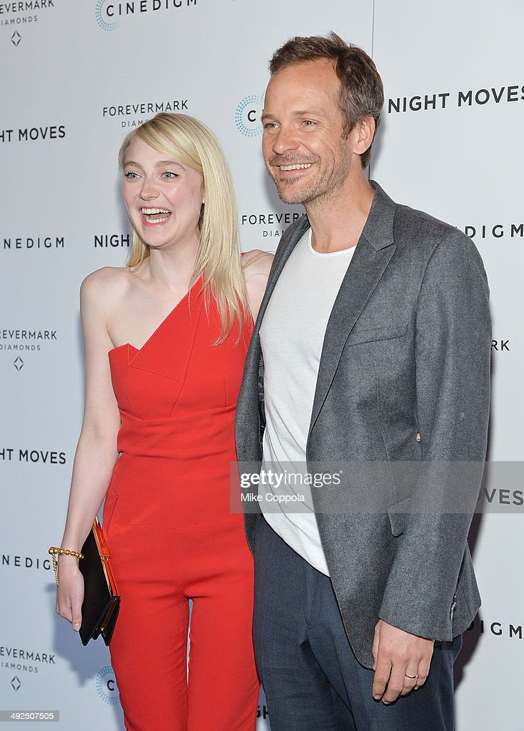 Actors Dakota Fanning (L) and Peter Sarsgaard attend the 'Night Moves' premiere at Sunshine Landmark on May 20, 2014 in New York City.