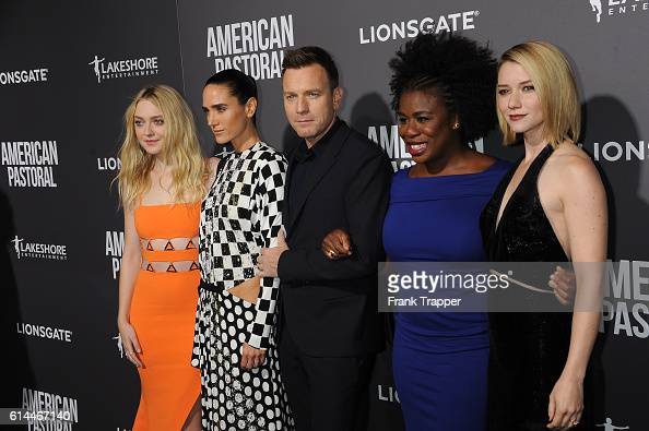 Actors Dakota Fanning Jennifer Connelly Ewan McGregor Uzo Aduba and Valorie Curry attend the special screening of Lionsgate's 'American Pastoral'...