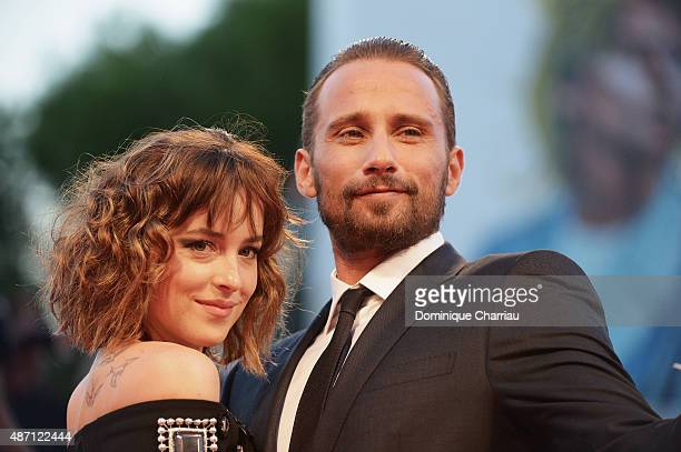 Actors Dakota Johnson and Matthias Schoenaerts attend a premiere for 'A Bigger Splash' during the 72nd Venice Film Festival at Sala Grande on...