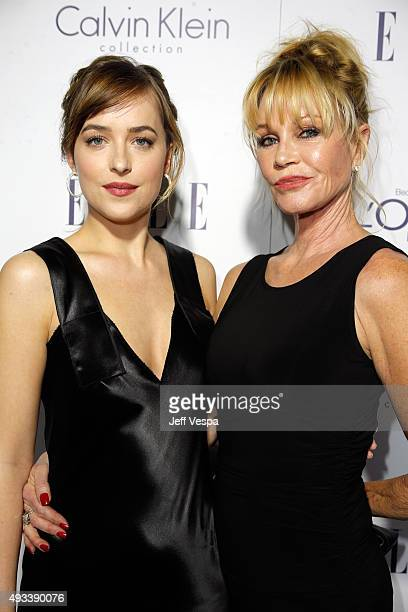Actors Dakota Johnson and Melanie Griffith attend the 22nd Annual ELLE Women in Hollywood Awards presented by Calvin Klein Collection L'Oréal Paris...