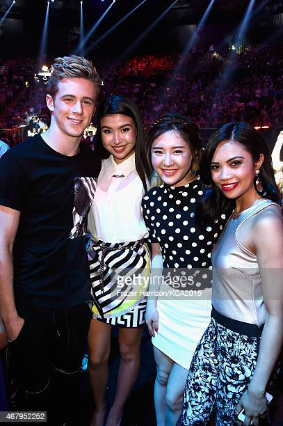 Actors Dale Whibley Erika Tam Megan Lee and Louriza Tronco attend Nickelodeon's 28th Annual Kids' Choice Awards held at The Forum on March 28 2015 in...