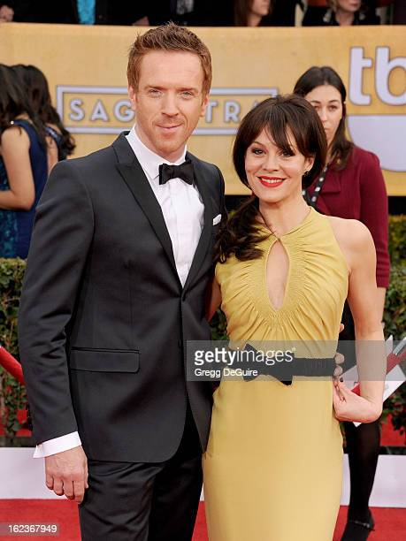 Actors Damian Lewis and Helen McCrory arrive at the 19th Annual Screen Actors Guild Awards at The Shrine Auditorium on January 27 2013 in Los Angeles...