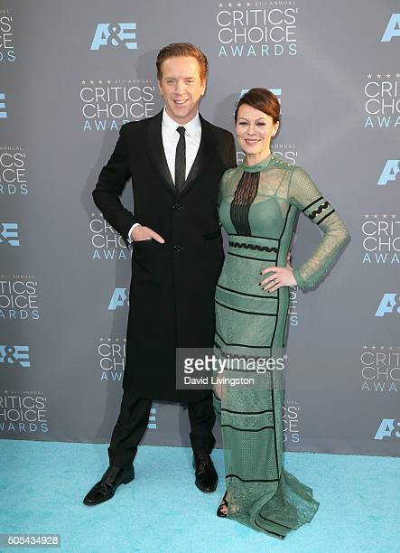 Actors Damian Lewis and Helen McCrory attend The 21st Annual Critics' Choice Awards at Barker Hangar on January 17 2016 in Santa Monica California