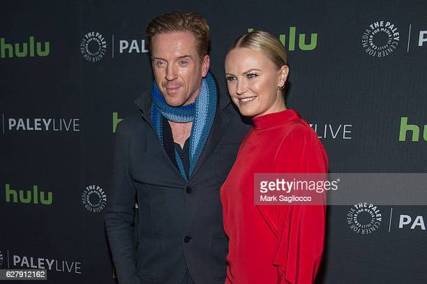 Actors Damian Lewis and Malin Akerman attend the Paley Live Sneak peek at 'Billions' Season Two plus discussion at Paley Center For Media on December...