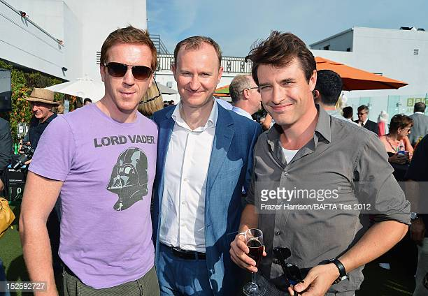 Actors Damian Lewis and Mark Gatiss attend the BAFTA LA TV Tea 2012 presented by BBC America at The London Hotel on September 22 2012 in West...