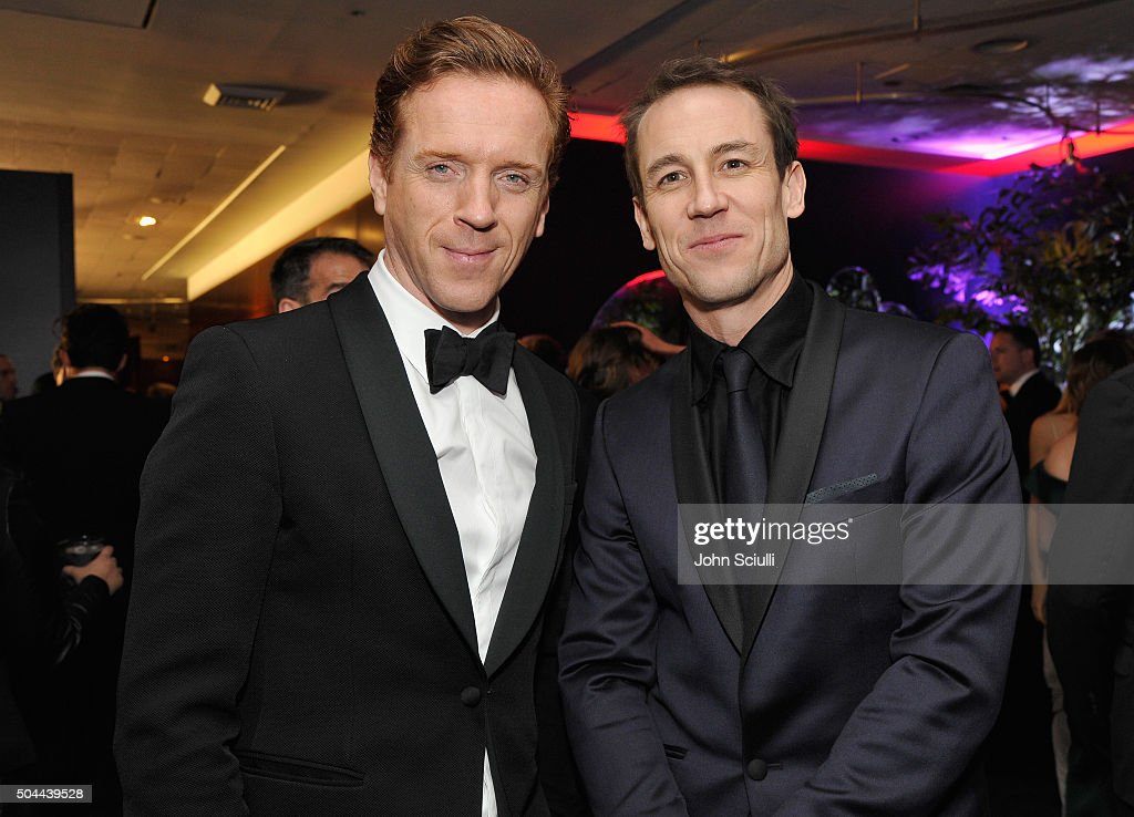 Actors Damian Lewis and Tobias Menzies attend The 2016 InStyle and Warner Bros. 73rd annual Golden Globe Awards Post-Party at The Beverly Hilton Hotel on January 10, 2016 in Beverly Hills, California.
